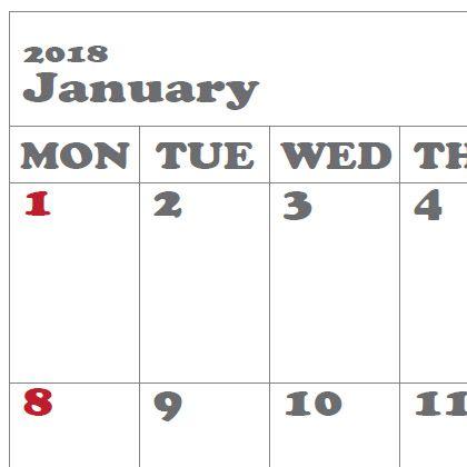 トラベラーズノートパスポートサイズ カレンダーPDF_MONDAY