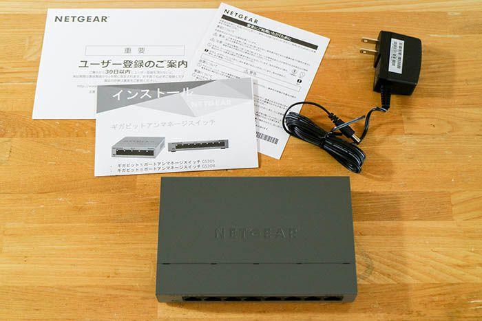 NETGEAR GS308 同梱物